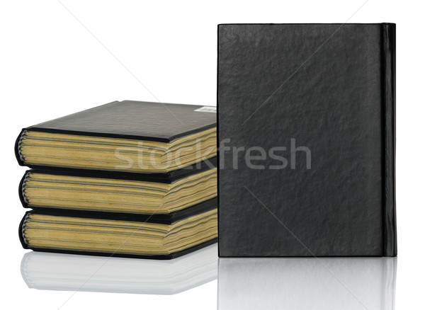 Black book is laying with shadow on white background Stock photo © stoonn