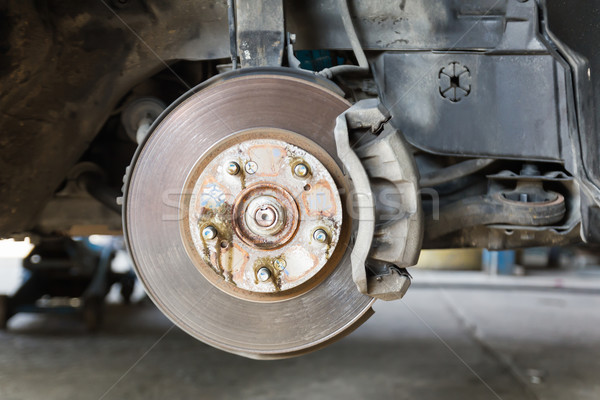 Stock photo: Front disk brake on car