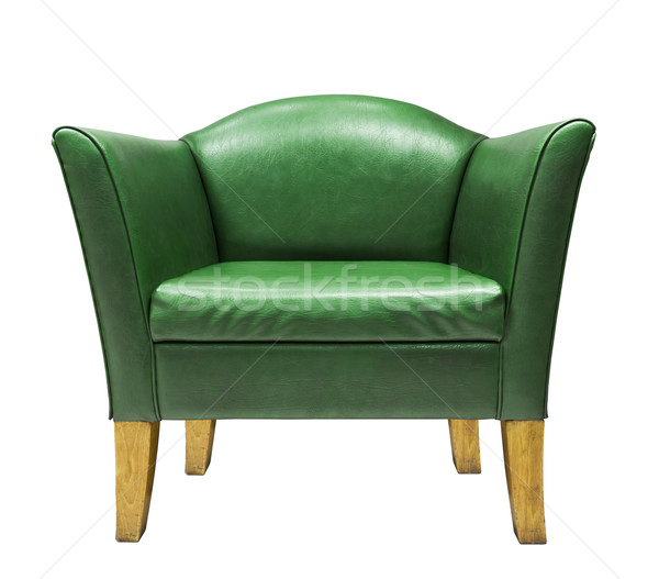 Expensive green leather armchair  Stock photo © stoonn