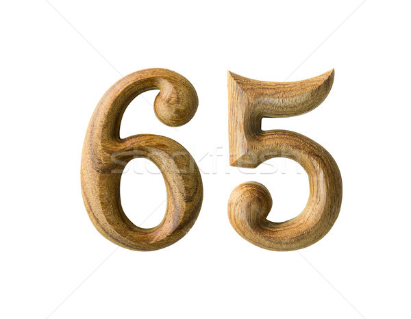 Wooden numeric 65 Stock photo © stoonn