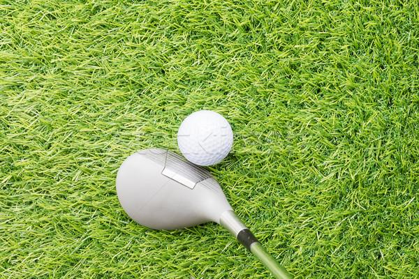 Golf topu golf kulüp çim top egzersiz Stok fotoğraf © stoonn
