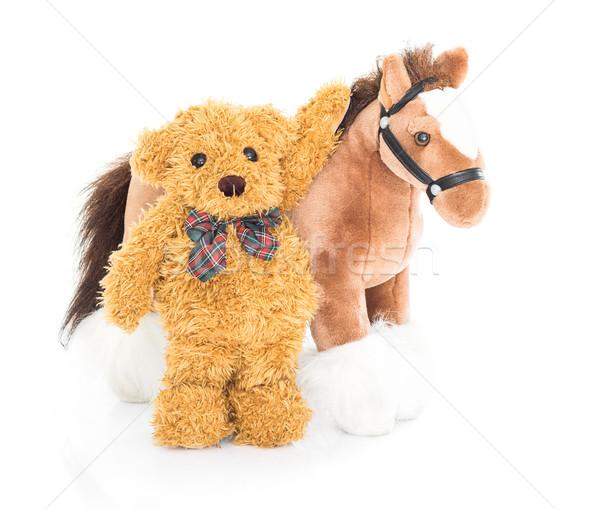 Teddy bear and horses  Stock photo © stoonn