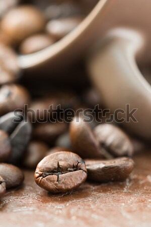 Coffee cup and roasted coffee beans Stock photo © stoonn