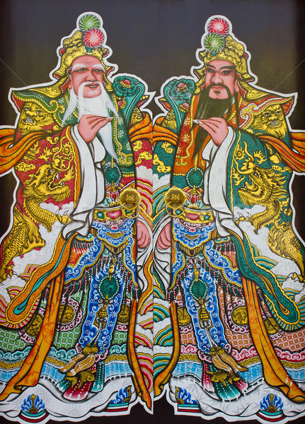 Tradizione cinese pittura due tempio muro Foto d'archivio © stoonn