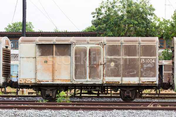 Old train container Stock photo © stoonn