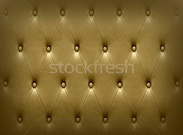 Luxurious dark golden leather  seat upholstery Stock photo © stoonn