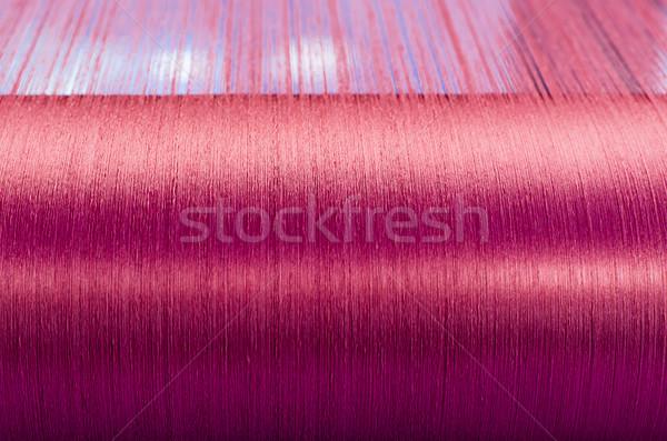 Verde seda textiles molino mano fondo Foto stock © stoonn