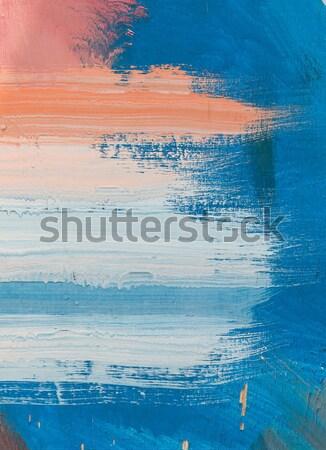 Abstract art painting on wood Stock photo © stoonn