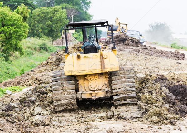 Bulldozer in construction site Stock photo © stoonn