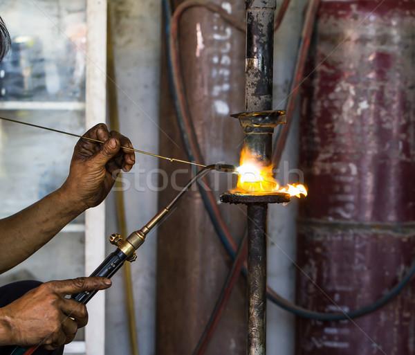 Schok brand werk licht Stockfoto © stoonn