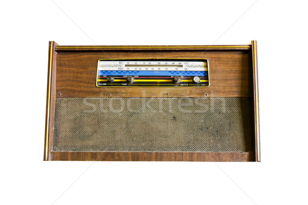 Old radio isolated1 Stock photo © stoonn