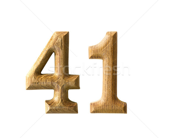Wooden numeric 41 Stock photo © stoonn