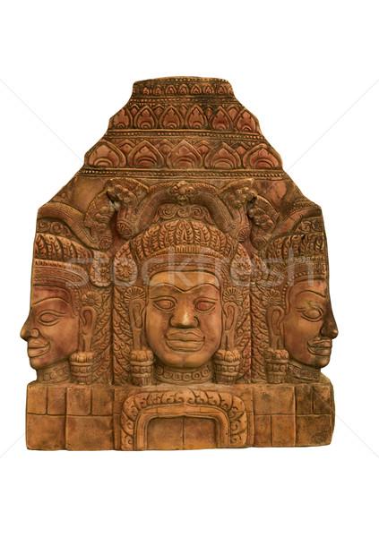 Sandstone carvings face Stock photo © stoonn