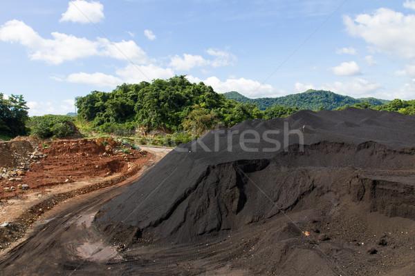 Coal Stock pile and blue sky Stock photo © stoonn