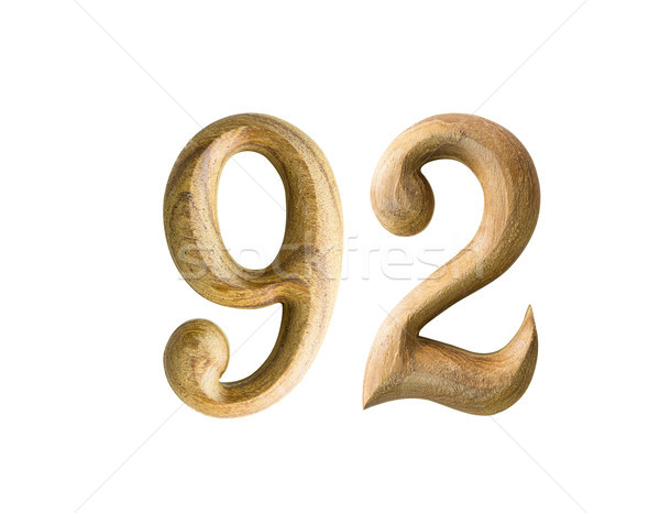 Wooden numeric 92 Stock photo © stoonn