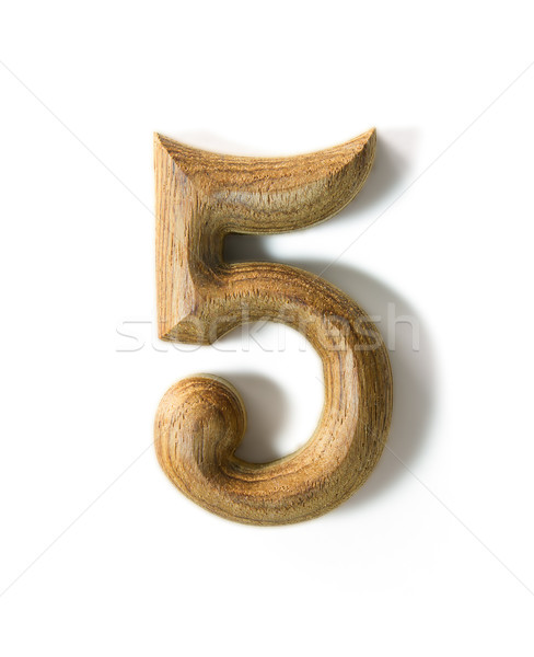 Wooden numeric 5 Stock photo © stoonn