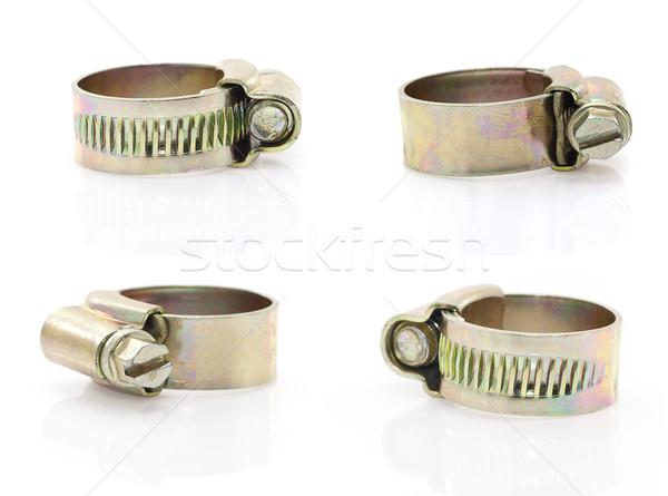 Hose clamp on white background Stock photo © stoonn