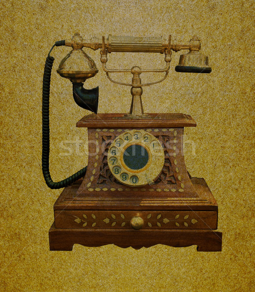 Telephone retro Stock photo © stoonn
