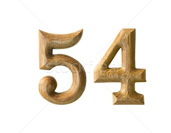 Wooden numeric 54 Stock photo © stoonn