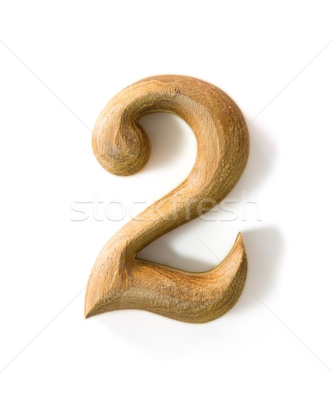 Wooden numeric 2 Stock photo © stoonn