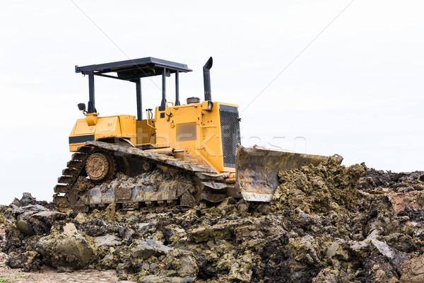 ブルドーザー 建設現場 マシン 地球 移動 作業 ストックフォト © stoonn