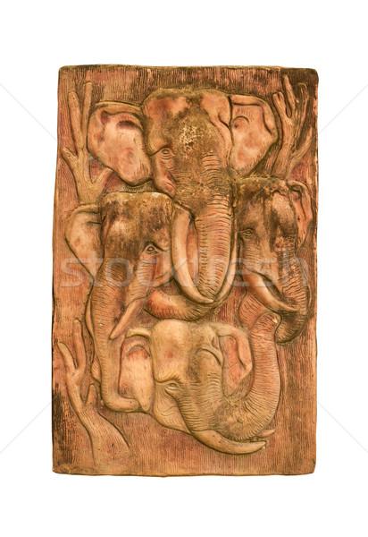 Four head Elephant  Stock photo © stoonn