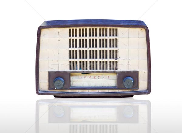 Vintage radio isolated Stock photo © stoonn