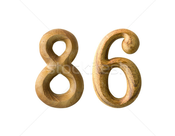 Wooden numeric 86 Stock photo © stoonn