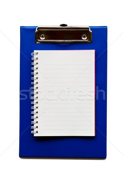 Schrijfpapier Blauw achtergrond onderwijs kaart Stockfoto © stoonn