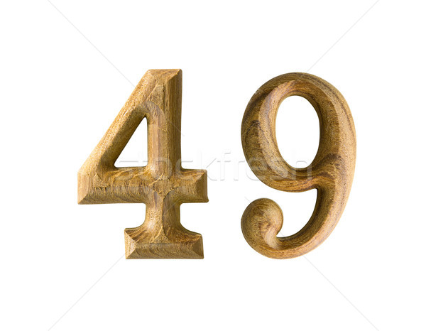 Wooden numeric 49 Stock photo © stoonn