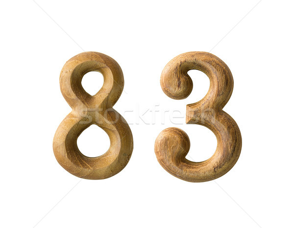 Wooden numeric 83 Stock photo © stoonn