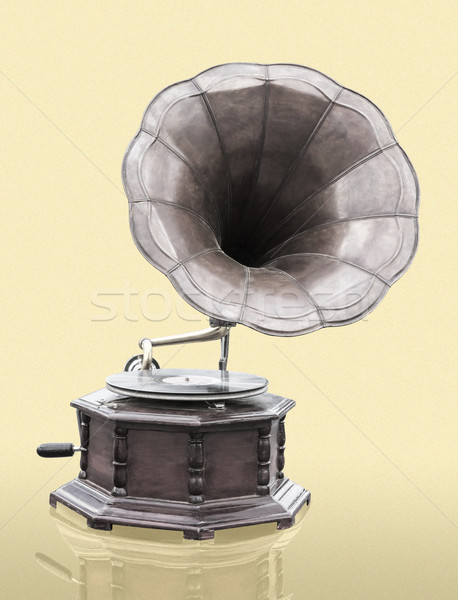 Bağbozumu gramofon disk yalıtılmış grunge müzik Stok fotoğraf © stoonn