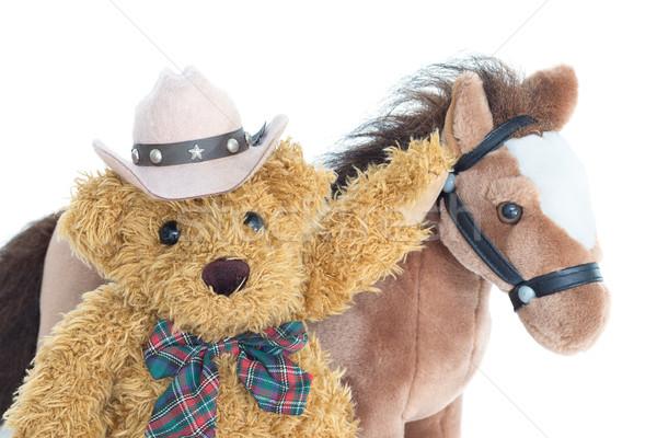 Cowboy Teddy bear and horses  Stock photo © stoonn