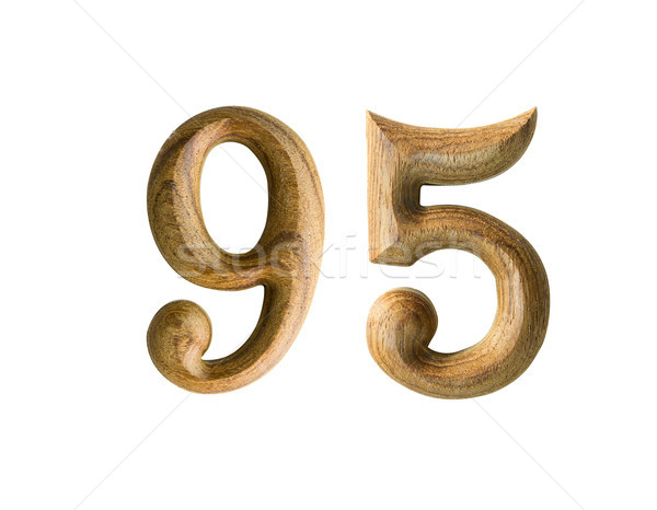 Wooden numeric 95 Stock photo © stoonn