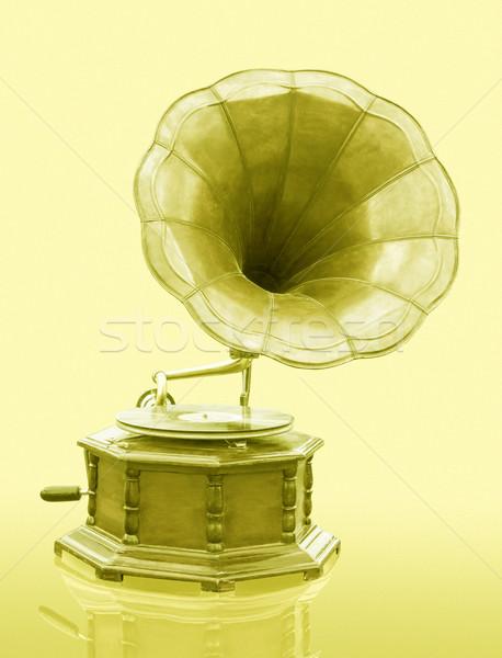 Klasszikus gramofon lemez izolált grunge zene Stock fotó © stoonn
