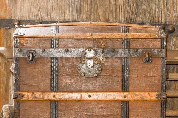 Close up old metal casket  Stock photo © stoonn