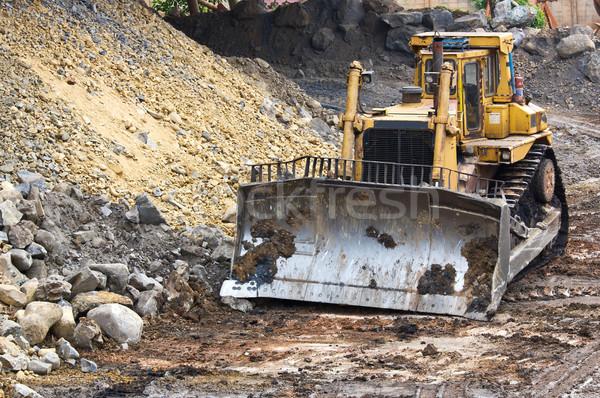 Bulldozer machine  Stock photo © stoonn