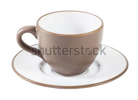 Brown coffee cup and saucer Stock photo © stoonn
