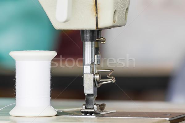 промышленных швейные машины текстильной завода ткань Сток-фото © stoonn