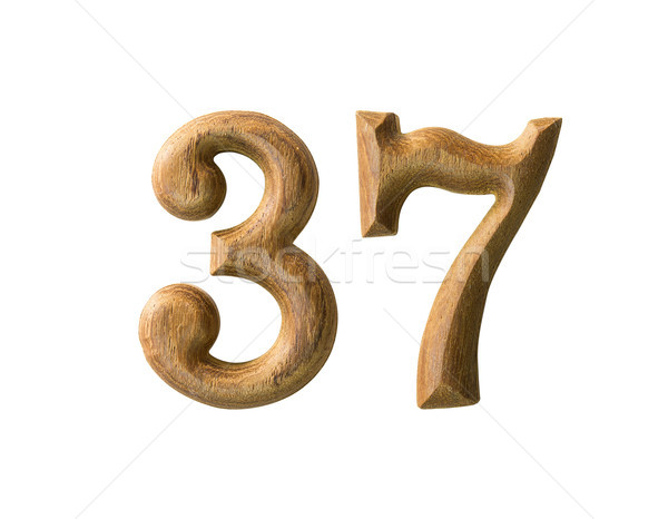 Wooden numeric 37 Stock photo © stoonn