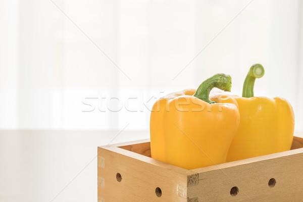 Fresh yellow bell pepper Stock photo © stoonn