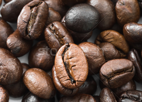 Heap of roasted Roasted brown coffee beans Stock photo © stoonn