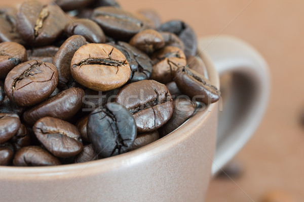 Roasted coffee beans  in coffee cup Stock photo © stoonn