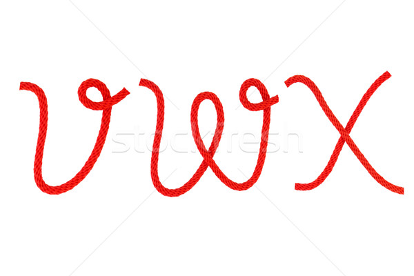Czerwony włókno liny formularza list statku Zdjęcia stock © stoonn