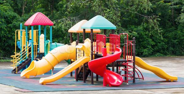 Kleurrijk speeltuin uitrusting outdoor park stad Stockfoto © stoonn