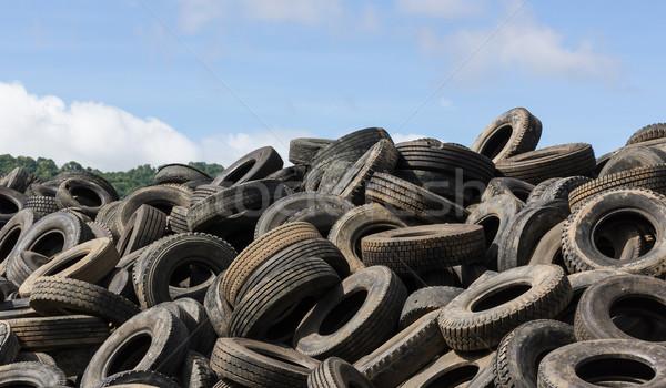 Old tires heap  Stock photo © stoonn