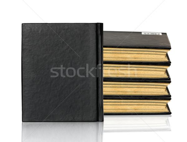 Cerrado negro libro blanco papel Foto stock © stoonn