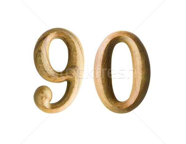 Wooden numeric 90 Stock photo © stoonn