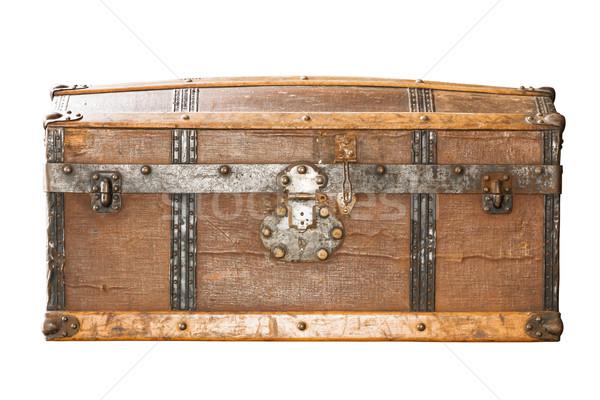 Lock of an old metal casket close up Stock photo © stoonn