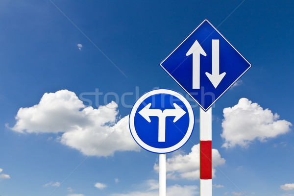 Curved Road Traffic Sign Stock photo © stoonn